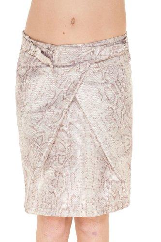 Emporio Armani BEIGE Viscose Knee Length Skirt, 44, Beige