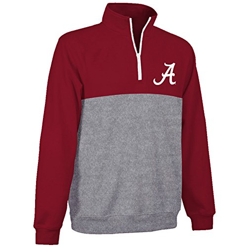 Alabama Crimson Tide Poly Quarter Zip Sweatshirt - M