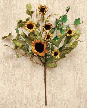 Country Sunflower Pick Primitive Garden Floral Décor by BCD