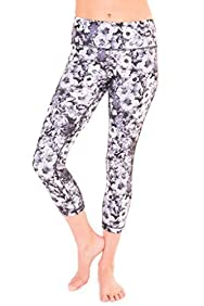 90 Degree by Reflex - Performance Activewear - Printed Yoga Capri