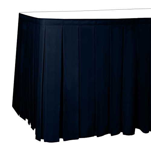 Polyester Box Pleat Table - Ultimate Textile 17 ft. Box Pleat Polyester Table Skirt - 36