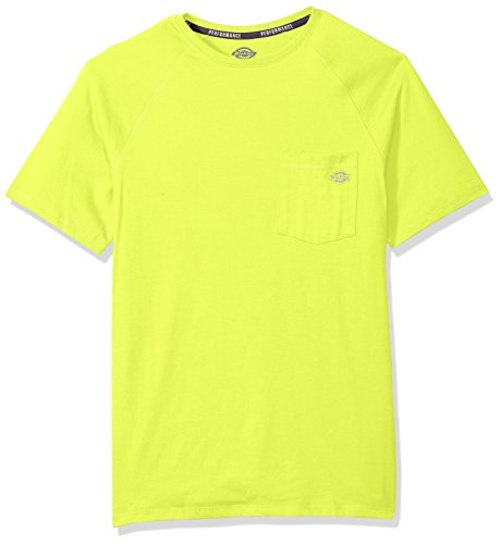 Dickies Men's Short Sleeve Performance Cooling Tee, Bright Yellow, XL - Bright Yellow T-shirt Tee