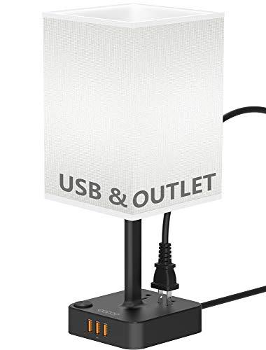 usb bedside table desk lamp