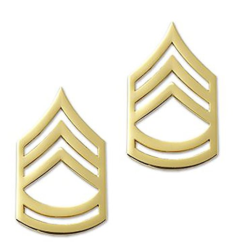 US Army Brite Metal Pin-On Rank - Sergeant First -