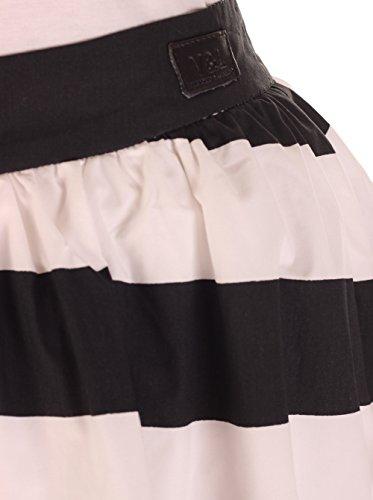 Victorio & Lucchino Falda  Negro / Blanco S