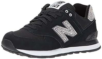 New Balance Women's 574V1 Shattered Pearl Sneaker, Black/Magnet, 6.5 B US