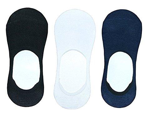 koroshni Men's & Women's 3 Pack Thin Casual No Show Socks Non Slip Flat Boat Line (Mold Boat Plain)