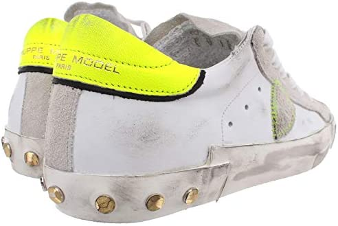 Philippe Model Sneakers Donna Paris PRLD VVF1 Pelle Bianca Grigia