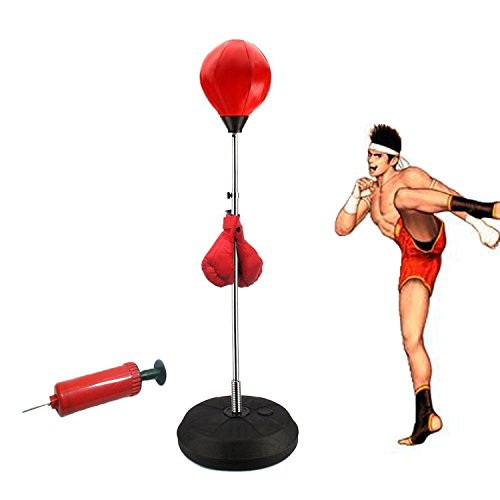Standing Punching Bag Adult Punching Ball Speed Bag Boxing Set with Boxing Gloves and Pump – DiZiSports Store