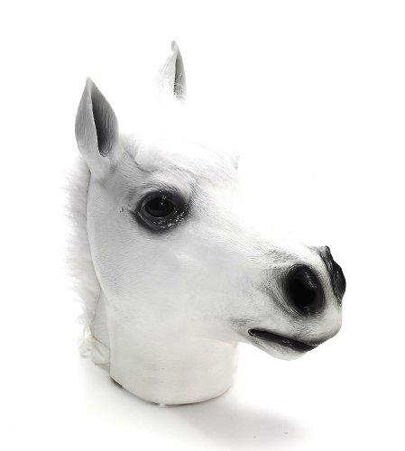 Forum Novelties White Horse Deluxe Latex Farm Animal Costume Mask (Horse Farm White)