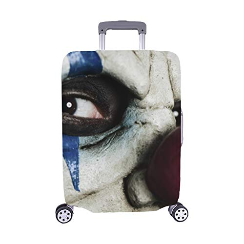 Evil Scary Clown Monster Pattern Spandex Trolley Case Travel Luggage Protector Suitcase Cover 28.5 X 20.5 -
