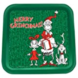 "Dr. Seuss - How The Grinch Stole Christmas - Tin Serving Tray. 14"" x 14"""