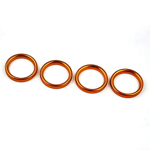 Star-Trade-Inc - 4 PCS Metal Exhaust Pipe Header Gasket for Suzuki ATV 2014 LT-F400F LT-F400FZ LT-A400F LT-A400FZ 2007-2010 LT-A450X