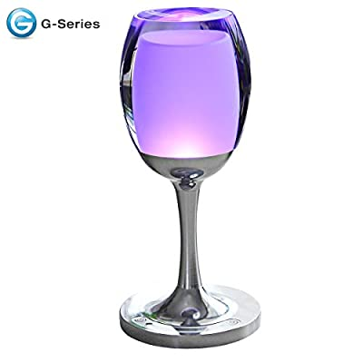 Table Lamp,Wellehomi G-series Dimmable Touch Sensor Cordless LED Wine Cup Table Desk Decor Lamp for Home Bar Decor Festive Birthday Christmas Gift