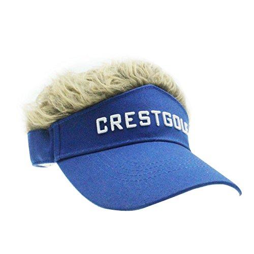 Novelty Fake Hair Hat Sun Visor Cap Wig