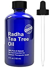 Radha Beauty Tea Tree Oil is produced through steam distillation of fresh leaves and is 100% natural. Here are some of the amazing benefits and uses 1- Excellent for massages 2- Great massage oil that can be mixed with other essential oils such as la...