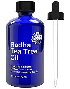 Radha Beauty Tea Tree Essential Oil 4 oz - 100% Pure Therapeutic Grade