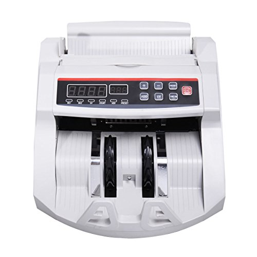 Super buy Money Counter Worldwide Currency Cash Bill Counting Machine Counterfeit Detector UV & MG Cash Bank by Super buy (Image #1)
