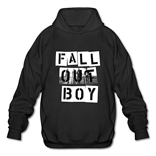 Free Kids Sweatshirt - Qi'c Men's Fall Out Boy FOB Band Sweatshirt Hoodies Black Size XL