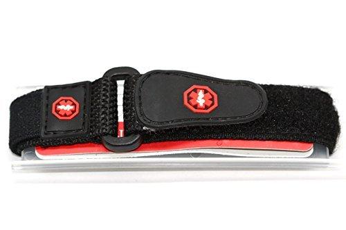 16-20mm Timex Medical lD Sport Wrap Nylon Black Watch Band Strap TX111BKR