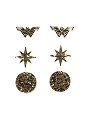 DC Comics Wonder Woman Stud Earring Set 3 - Wonder Earrings Woman