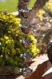 Monarch Rain Chains 18023 Aluminum Lotus Rain