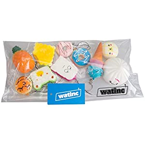 WATINC Random 10 pcs Squishy Cream Scented Slow Rising Kawaii Simulation bread children toy Jumbo Medium Mini Soft Squishy Cake/Panda/Bread/Buns Phone Straps (10P Donuts) by WATINC