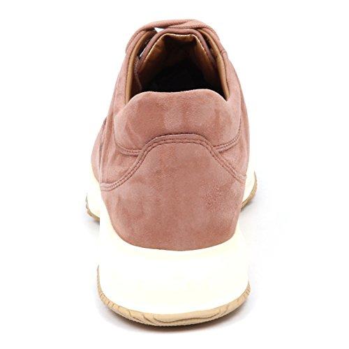 Hogan Shoe Cipria E4806 Interactive Woman Scarpe Suede Antico Donna Sneaker 6qZwr6O1