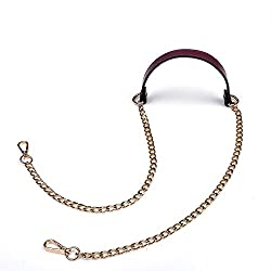 Vanenjoy 12mm Replacement Chain Genuine Leather Shoulder Crossbody Straps For Handbags Purse Bags Purple