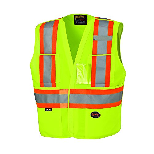 Vest Tear Safety Away (Pioneer V1021061U - 23XL V1021061U Hi-Viz Safety Tear-Away Vest, 2XL/3XL, Yellow/Green)