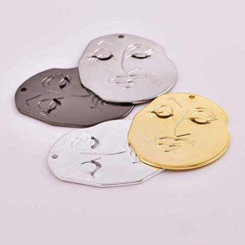 5Pc Creative Blending Vintage Necklace Pendant Earrings Abstract Face DIY Bracelet Bangle Jewelry Accessories Crafts Women