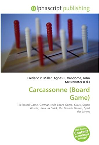 Carcassonne Board Game : Tile-based Game, German-style Board Game, Klaus-Jürgen Wrede, Hans im Glück, Rio Grande Games, Spiel des Jahres: Amazon.es: Miller, Frederic P., Vandome, Agnes F., McBrewster, John: Libros en idiomas