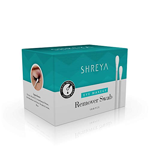 Amazon.com : Shreya Eye Makeup Remover Swabs - 100 Pcs Individual Packaging, Makeup Eraser/Corrector Formula Filled Swabs - 100% Double Sided Tips Pure ...