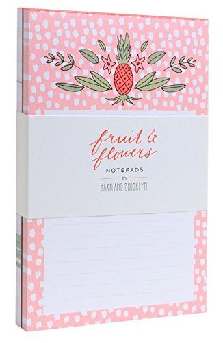 Fruit & Flowers Notepads (Miscellaneous Gifts, Flowers & Food)