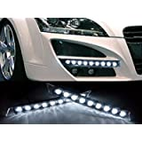 ZHOL® Audi 9 LED DRL Daytime Running Light Kit White
