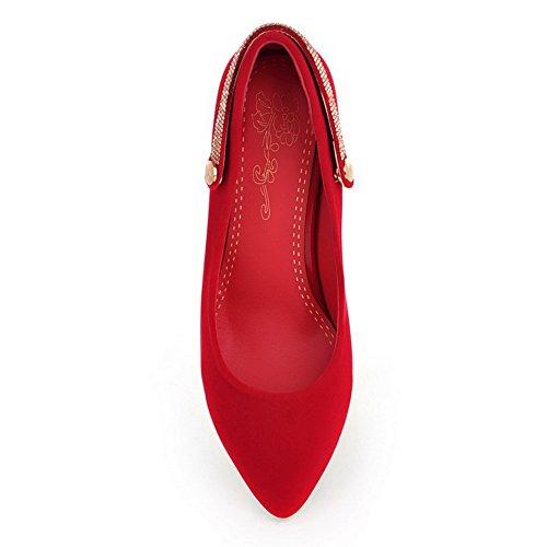 Balamasa - Zapatos De Tacón Alto Con Tacón Alto, Resistentes A Los Resbalones, Para Mujeres, Rojo
