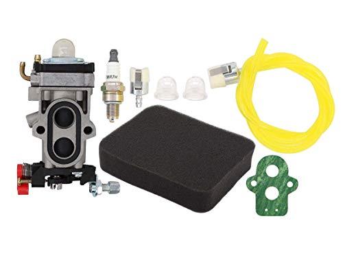 MOTOKU Carburetor Fuel Line Filter Spark Plug Tune-Up Kit for Husqvarna 350BT 150BT Backpack Leaf Blower Redmax EBZ8000 EBZ8000RH EBZ8500 EBZ8001 EBZ8050 EBZ8050RH Back Pack Carb (150 Bt Leaf Blower)
