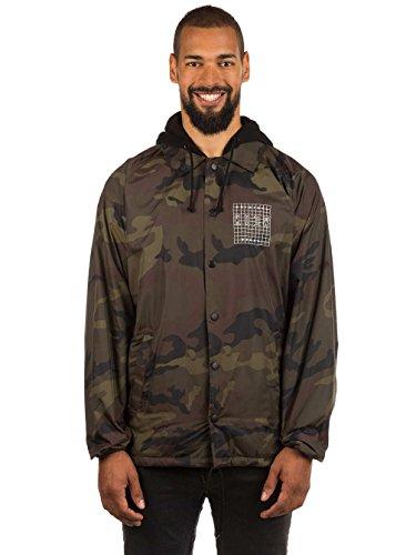 KR3W Locker Grid Hooded Coaches Jacket Camo Men's Medium