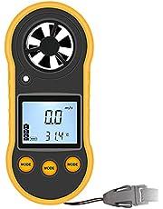 Anemometer Digitale-RZ818 Handheld Anemometer Windsnelheid Meter Thermometer, Wind Detector Gauge Luchtstroom Meter