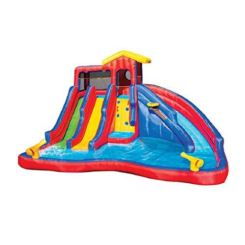 BANZAI 90370 Hydro Blast Inflatable Water Slide Aquatic Activity Park ()