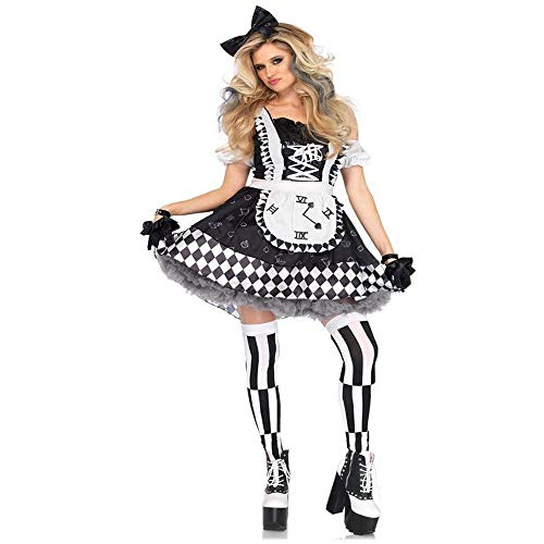 Fashion-Cos1 Sexy Funny Circus Clown Costume Naughty Harlequin Fancy Dress Uniform Adult Halloween Cosplay Clothing for Women (Size : -