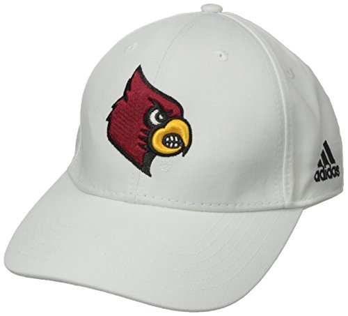 White Structured Adjustable Hat - NCAA Louisville Cardinals Men's Structured Adjustable Cap, One Size, White