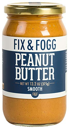 Low Sugar Peanut Butter - Gourmet Smooth Peanut Butter. Handmade in New Zealand. All Natural and Non-GMO from Fix & Fogg. Naturally Textured, our take on Creamy PB. Vegan, Keto Friendly, in Beautiful Gift Packaging (13.2 oz)