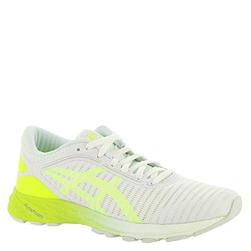 ASICS Women's Dynaflyte 2 Running Shoe White/Safety Yellow/Aruba Blue 9.5 (S) -