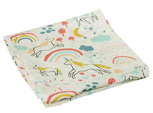 HGHG Baby Muslin Swaddle Blanket Your Receiving Blanket for Boys and Girls 47inches (Lovely Unicorn) by HGHG (Image #3)