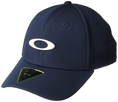 Oakley Mens Men's TINCAN Cap, Fathom/Light Grey, S/M