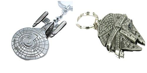 The Milliennium Falcon, Star Trek Enterprise Keychain Combo -