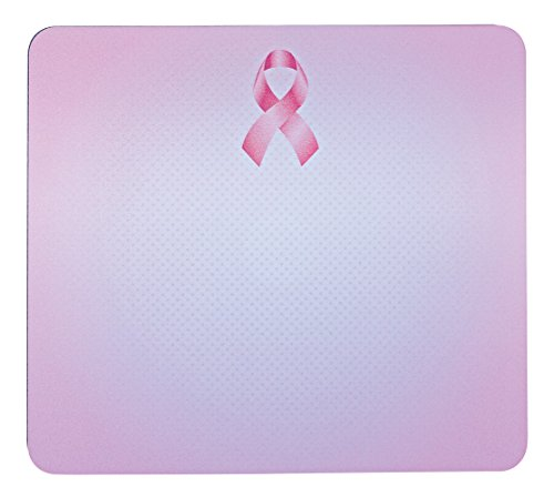 "3M Precise Mouse Pad with Non-Skid Foam Back, Enhances the Precision of Optical Mice at Fast Speeds, 9""x8"", Pink Ribbon Design (MP114-BCA)"