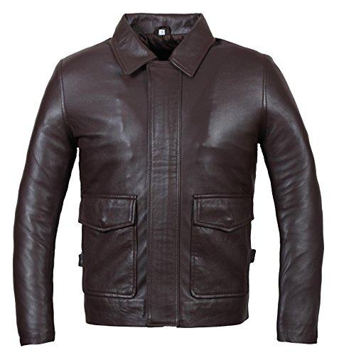 Indiana Jones Leather Jacket - Distressed Brown Genuine Leather Jacket - (Indiana Jones Costumes Jacket)