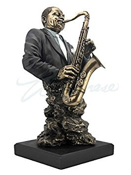 Artistic Saxophone Player Statue Sculpture - Jazz Band Co...